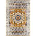 Penson Transitional Ivory/Blue/Orange Area Rug Rug Size: Rectangle 7'6