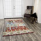 Pouliot Hand-Tufted Wool Red Area Rug Rug Size: Rectangle 5' x 8'