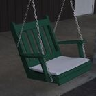 Lemming Traditional English Porch Swing Color: Turf Green