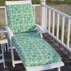 Marissa Indoor/Outdoor Chaise Lounge Cushion Fabric: Pool
