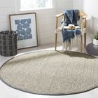 Freels Natural/Gray Area Rug Rug Size: Round 6' x 6'