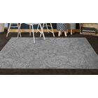 Perrodin Gray Area Rug Rug Size: Rectangle 5' x 8'