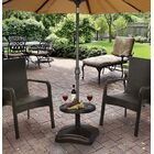 Bryana Rolling Resin Free Standing Umbrella Base with Table Accessory Finish: Black