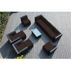 Baril 11 Piece Rattan Sunbrella Sofa Set with Cushions Cushion Color: Sunbrella Bay Brown