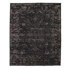 Pile Sumak Hand-Woven Wool Black Area Rug
