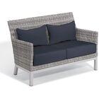 Saleem Loveseat with Cushions Cushion Color: Midnight Blue