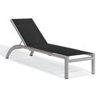 Saleem Armless Reclining Chaise Lounge Color: Black, Frame Color: Tekwood Vintag