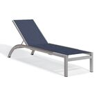 Saleem Armless Reclining Chaise Lounge Color: Ink Pen, Frame Color: Tekwood Vintag