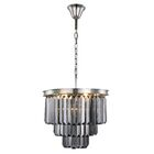 Lavinia 9-Light Chandelier Crystal Color: Gray, Finish: Polished Nickel