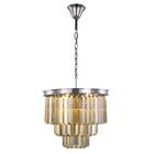 Lavinia 9-Light Chandelier Finish: Polished Nickel, Crystal Color: Smoky