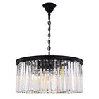 Lavinia�8-Light Crystal Chandelier Crystal: Clear, Finish: Matte Black