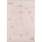 Thompson Porter Hand-Woven Wool Pink Area Rug Rug Size: Rectangle 5' X 7'6