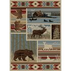 Windsor Lane Maple Valley Brown/Blue Area Rug Rug Size: Runner 2' x 8'