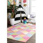 Doughton Hand-Hooked Wool Pink/Yellow Area Rug Rug Size: Rectangle 5' x 8'