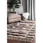 Perlman Hand-Woven Wool Brown/Beige Area Rug Rug Size: Rectangle 7'6