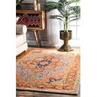 Perryman Hand-Hooked Wool Rust Area Rug Rug Size: Rectangle 7'6