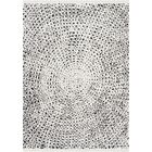 Penwell White/Black Area Rug Rug Size: Rectangle 7'10