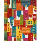 Chunn Orange/Blue Area Rug Rug Size: Rectangle 8' x 10'