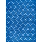 Franck Moroccan Trellis Blue Area Rug Rug Size: Rectangle 7'10