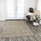 Hadley Hand-Woven Medium Brown Area Rug Rug Size: Rectangle 8' x 10'