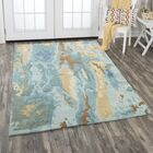 Hames Hand-Tufted Wool Blue Area Rug Rug Size: Rectangle 8' x 10'
