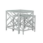 Chippendale 2 Piece Nesting Table Color: White