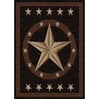 Durango Western Star Brown Area Rug Rug Size: Rectangle 5' x 8'