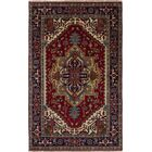 One-of-a-Kind Doerr Hand-Woven Wool Red Area Rug Rug Size: Rectangle 5' x 8'