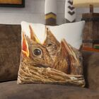 Plunkett Baby Bird Throw Pillow