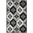 Manwaring Hand-Tufted Wool Black Area Rug Rug Size: Rectangle 5' x 8'