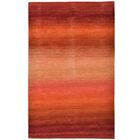 Belding Stripes Hand-Woven Wool Red/Orange Area Rug Rug Size: Rectangle 8'3