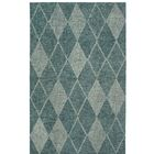 Finkelstein Diamond Hand-Woven Wool Green Area Rug Rug Size: Rectangle 3'5