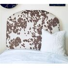 Horsley Cow Hide Arched Twin/Twin XL Upholstered Panel Headboard Upholstery: Beige