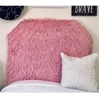 Hosley Mongolian Fur Beveled Twin/Twin XL Upholstered Panel Headboard Upholstery: Pink