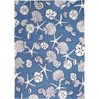Danté Serenity at Sea Hand-Woven Blue Indoor/Outdoor Area Rug Rug Size: Rectangle 5' x 7'