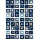 Easterly Beach Tiles Hand-Woven Blue Indoor/Outdoor Area Rug Rug Size: Rectangle 5' x 7'