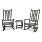 Vineyard 3 Piece Conversation Set Frame Color: Slate Gray
