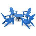 Vineyard 5 Piece Conversation Set Frame Color: Pacific Blue