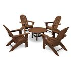 Vineyard 5 Piece Conversation Set Frame Color: Teak