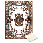 Rossman Brown/Ivory Area Rug with Rug Pad Rug Size: Rectangle 7'8