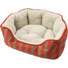Sleep Zone Cabana Step in Scallop Shape Bolster Dog Bed Size: 20