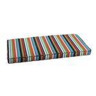 Stripe Indoor/Outdoor Sunbrella Bench Cushion Size: 48