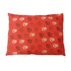 Eco Friendly Extra Plush Soft Dog Pillow Color: Red