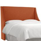 Crumrine Swoop Arm Upholstered Wingback Headboard Size: Full, Color: Zuma Atomic