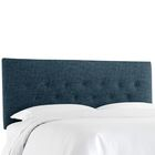 Cimino Button Upholstered Panel Headboard Size: King, Color: Zuma Navy