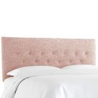Cimino Button Upholstered Panel Headboard Size: Twin, Color: Zuma Rosequartz