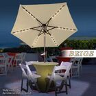 Beamer Solar Light Patio 6.5' Cantilever Umbrella Fabric Color: Beige