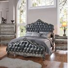 Rikard Traditional French Style Upholstered Panel Bed Size: Queen, Color: Silver Gray