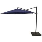 Kedzie Outdoor 11' Cantilever Umbrella Base Color: Black, Fabric Color: Navy