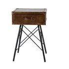 Lafrance Rustic Rectangular End Table